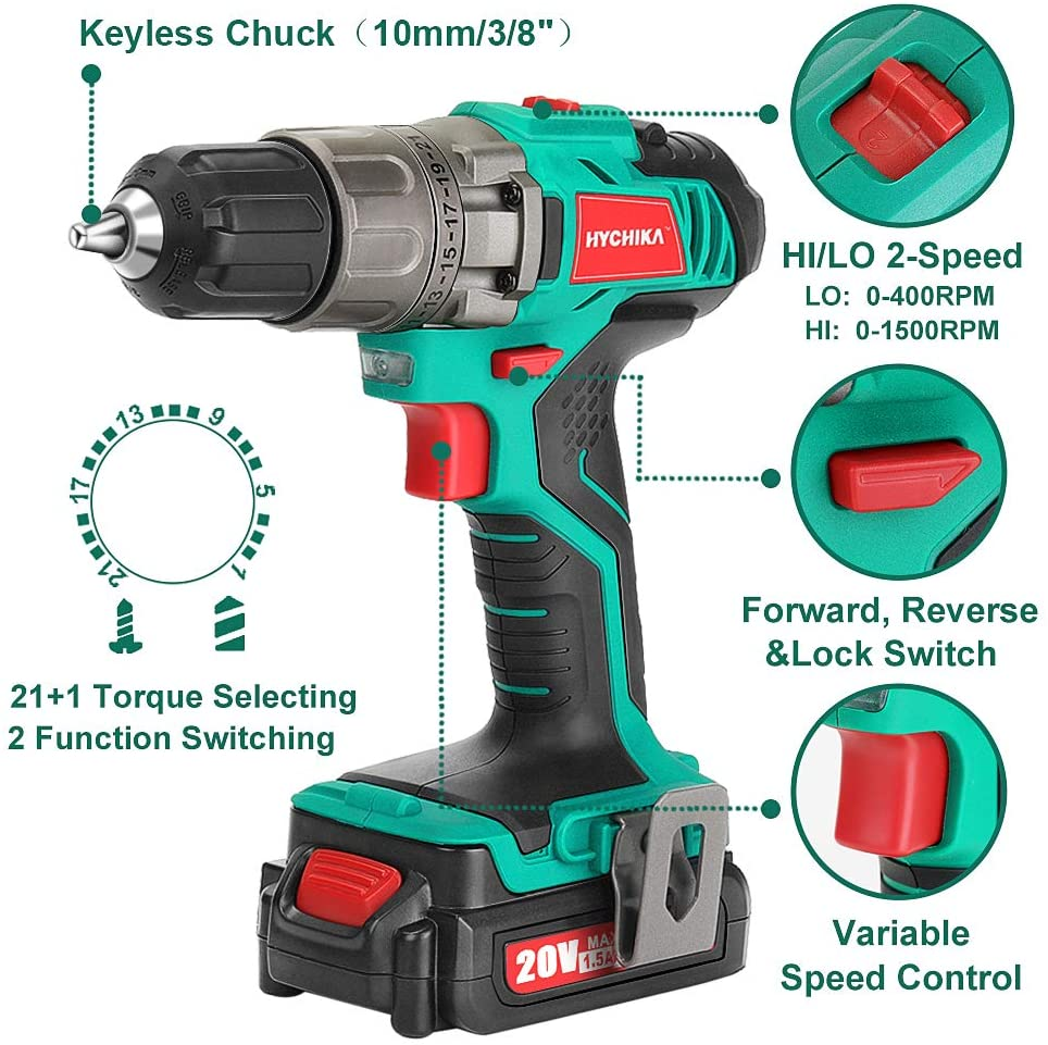Different Parts Of A Power Drill